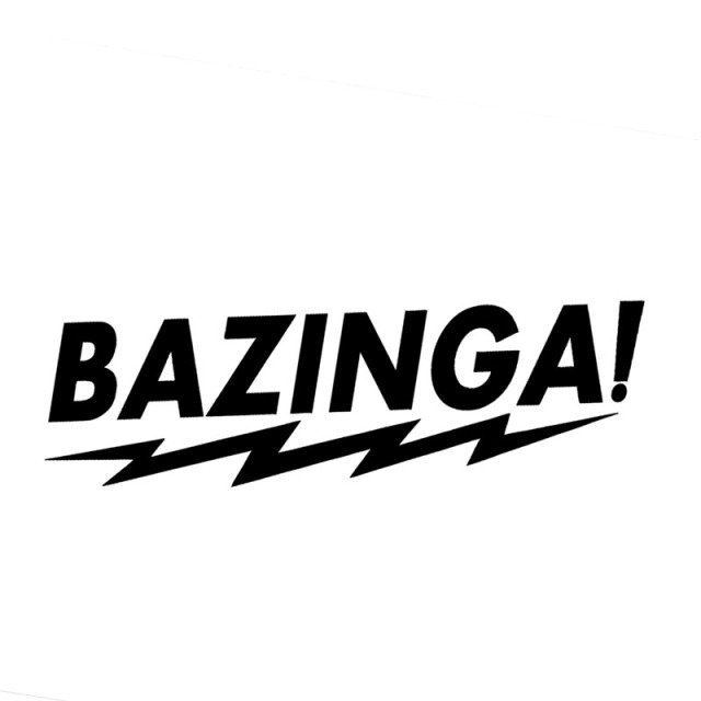 175 4cm bazinga humour lines vinyl car body stickers funny car styling window accessories