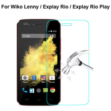 0.26mm tempered glass For Wiko Lenny / Explay Rio / Explay Rio Play screen protector protective front glass with free clean kits