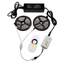 10 М СВЕТОДИОДНОЕ Освещение Полосы 12 В Адаптер Питания 2.4 Г RGB РФ Сенсорный Контроллер SMD3528 5050 RGB LED Strip Light Гибкая лента