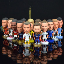 New Fotball Stars Puppets Messi Cristiano Ronaldo Mbappe Dybala Coutinho Soccer Ball Fans Little Figurine Football Goal Doll(China)