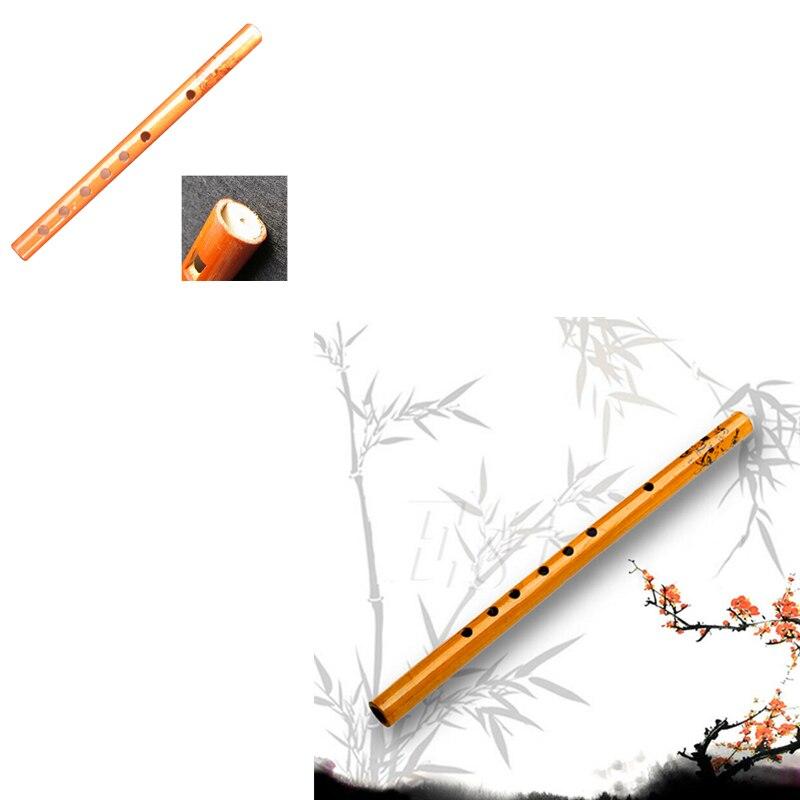 1PC IRIN chinois traditionnel 6 trous bambou flûte verticale flûte clarinette étudiant Instrument de musique en bois couleur vente chaude