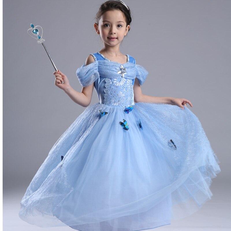 Costumes & Accessories Deluxe Girl Cinderella Maid Costume Halloween Kids Princess Cosplay Clothing Children Dress Girls Costumes