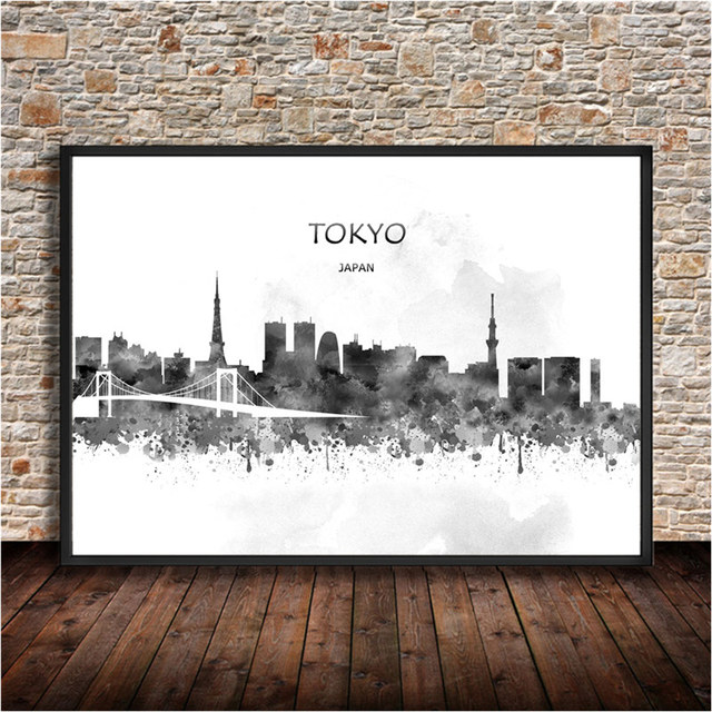Tokyo travel city poster wall stickers home living room bedroom cafe bar decor vintage retro poster