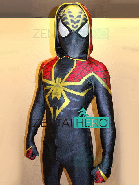 3D Printed Strong Male Stupendous Samir Barrett Spider Man Cosplay Costume Hooded Bodysuit Spiderman Tight Superhero