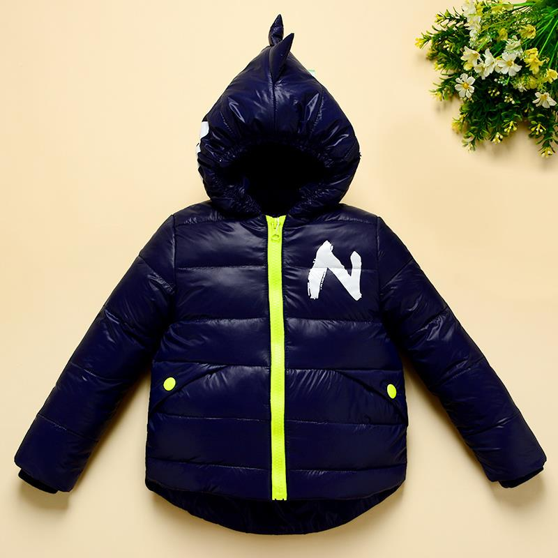 Winter Children Boys Jackets Cartoon Tyrannosaurus Girls Winter Coat Kids Outerwear Baby Boys/Girls Down Jacket Infant Clothes 9