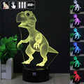 Ilusión 3D Animal Dinosaurio de Control Remoto LED de Escritorio Mesa de Noche Lámpara Táctil luz de La Lámpara 7 Color Kids Niños Familia de Vacaciones regalo