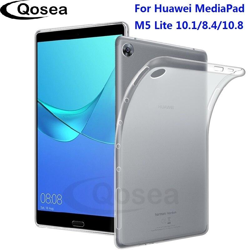 Pour Huawei MediaPad M5 Lite 10.1 Cas Anti-Frapper Slim Silicone Souple TPU MediaPad M5 8.4 10.8 Tablet Transparent couvercle de protection