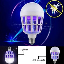 E27 15W led Mosquito Killer Lamp Pest Control Light Bulb Eco Friendly Electronic Mosquito Insect Killer Trap Night Lamp