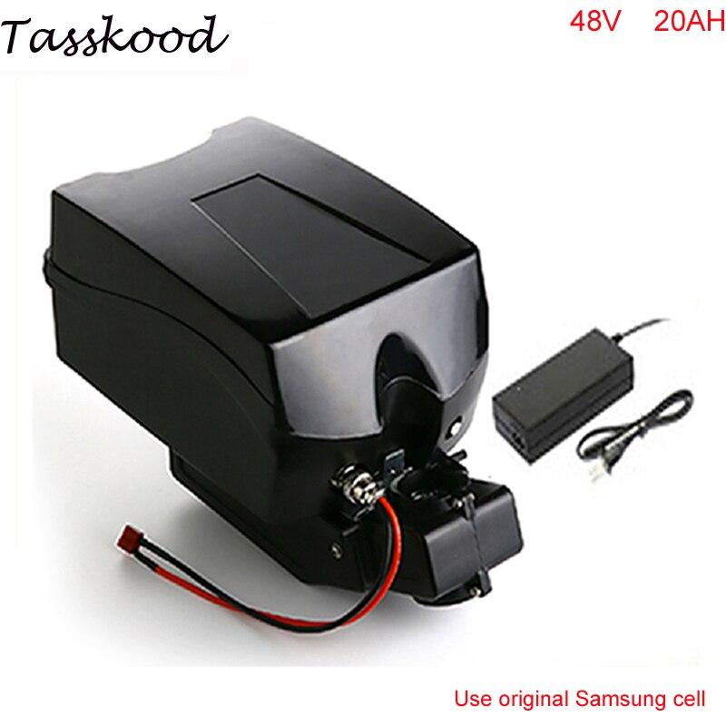 Ebike 48v batterie vélo électrique batterie 48V 20Ah pour bafang/8fun 1000w moteur avec étui grenouille BMS chargeur pour cellule Samsung