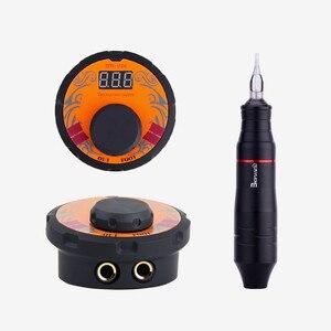 Image 3 - Biomaser dövme güç kaynağı kiti döner kalem kartuşları ile dövme makinesi seti profesyonel ayarlamak gerilim güç kaynakları araçları