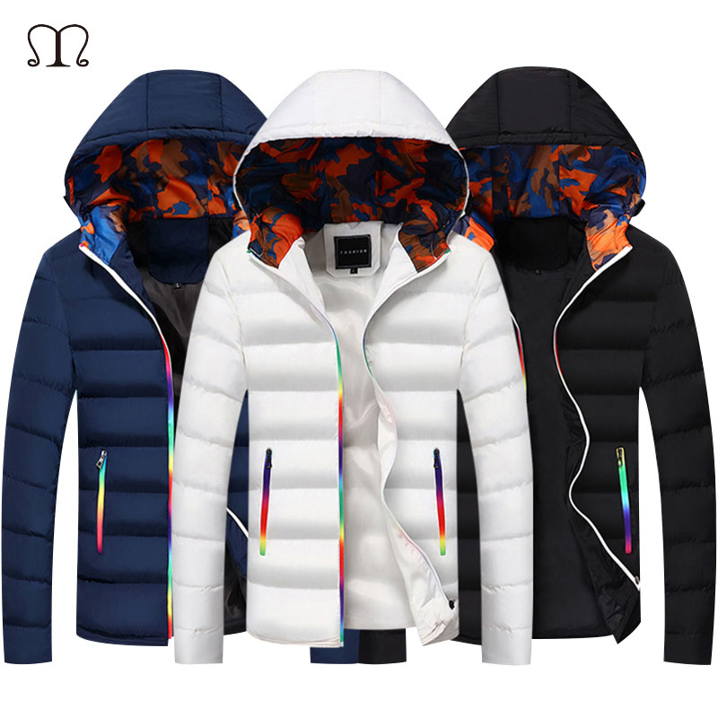 Winter Bomber Jacket Men Warm Coat Jackets Mens Parkas Men's Coats Zipper Hooded Thick Jackets And Coats Padded Down Outerwear