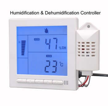220V5A Programmable Humidification and dehumidification controller speed fan Output with Indoor temperature display