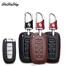 цена на KUKAKEY Genuine Leather Key Case Cover For Kia KX3 KX5 K3S RIO Ceed Cerato Optima K5 Sportage Sorento K2 Soul K3 Car Styling