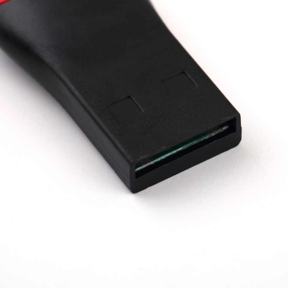 1 قطعة البسيطة قارئ بطاقة USB USB 2.0 TF مايكرو SD لل فلاش تي M2 الذاكرة قارئ بطاقات أحدث