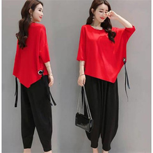 Women's summer new two pieces set Women loose casual tops +