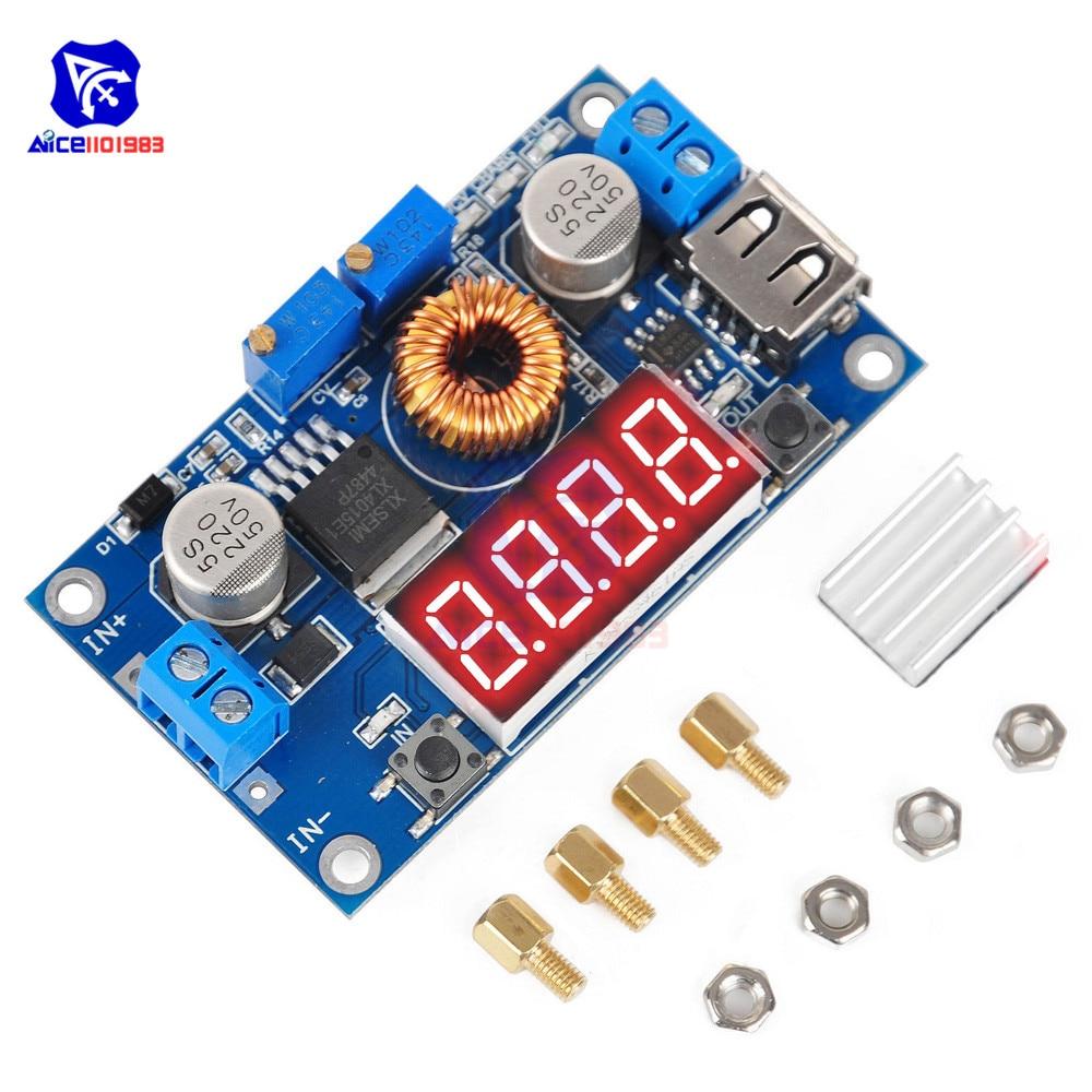 Регулируемый понижающий модуль заряда батареи 5A CC/CV, светодиодный драйвер, USB вольтметр, амперметр, регулятор напряжения, плата питания|voltage regulator|power regulatorcharging board | АлиЭкспресс