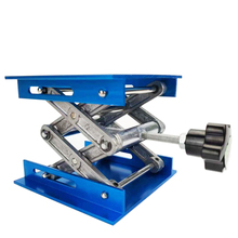 100x100x150mm אלומיניום נתב שולחן הרם הרמת Stand מתלה מעלית פלטפורמת כחול