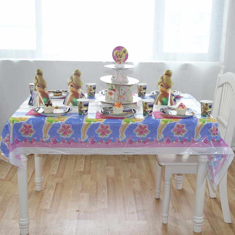Omilut Tinkerbell PARTY Disposable Tableware ชุดน่ารัก Flying Fairy วันเกิด PARTY Supplies การ์ตูน Tinkerbell Elf Decor