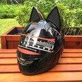 Мотоциклетный шлем в летнее время года  для мужчин и женщин  анти-туман  шлем для езды по пересеченной местности  модный шлем с кошачьими ушк...
