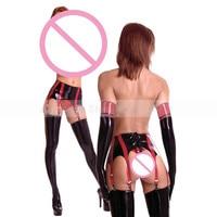 Latex black garter for girl S LA035