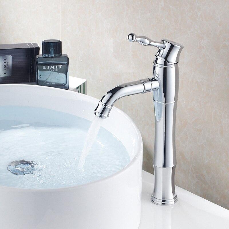 Robinet de lavabo de Style classique robinet de lavabo chromé et or robinet de comptoir à poignée unique robinet de toilette chaude et froide et robinet de lavabo