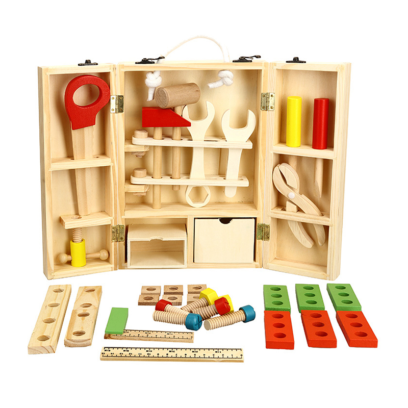 2017 Hot Sale Kids Wooden Multifunctional Tool Set Toys Maintenance Box Wooden Tools Toy Baby Nut Combination Childrens Day Gift2017 Hot Sale Kids Wooden Multifunctional Tool Set Toys Maintenance Box Wooden Tools Toy Baby Nut Combination Childrens Day Gift