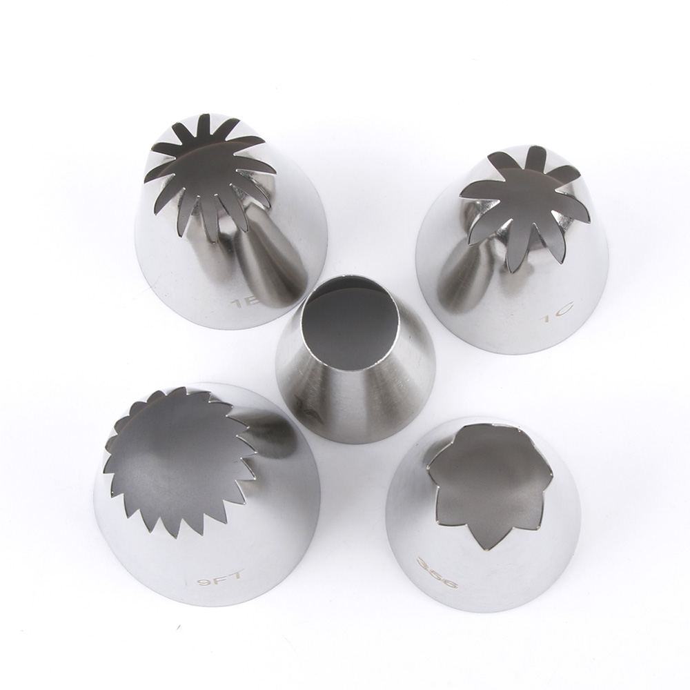 Icing Nozzles Cake-Cream Baking-Tools Decoration-Tips Fondant-Decor Stainless-Steel Metal
