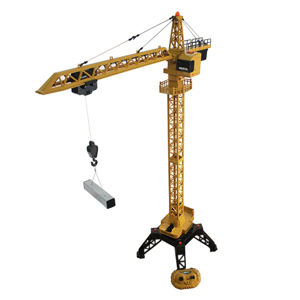 HUINA TOYS 1585 1/14 12CH Alloy RC Crane Tower Hanging Model Engineering Construction Vehicle Remote Control Toy for Kid Gift
