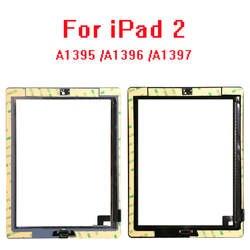 30 шт./лот для iPad 2 A1395 A1396 A1397 сборки Сенсорный экран Стекло ЖК Digitizer Замена + кнопка Home + клей + камера + держать