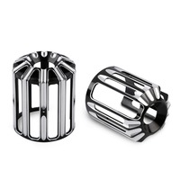 Motorcycle Motorbike Oil Filter Cover Black CNC Aluminum Deep Cut Oil Grid For Harley Touring Softail