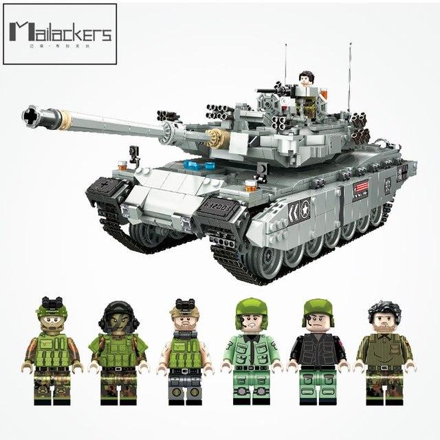US $79 98 20% OFF PLS 632003 Legoing Military Figure Block Toys & Hobbies  War Machine German Leopard 2 Main Battle Tank DIY Toy For Children Gifts-in