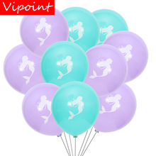 VIPOINT PARTY 10pcs 10inch blue green purple latex balloons wedding event christmas halloween festival birthday party HY-369