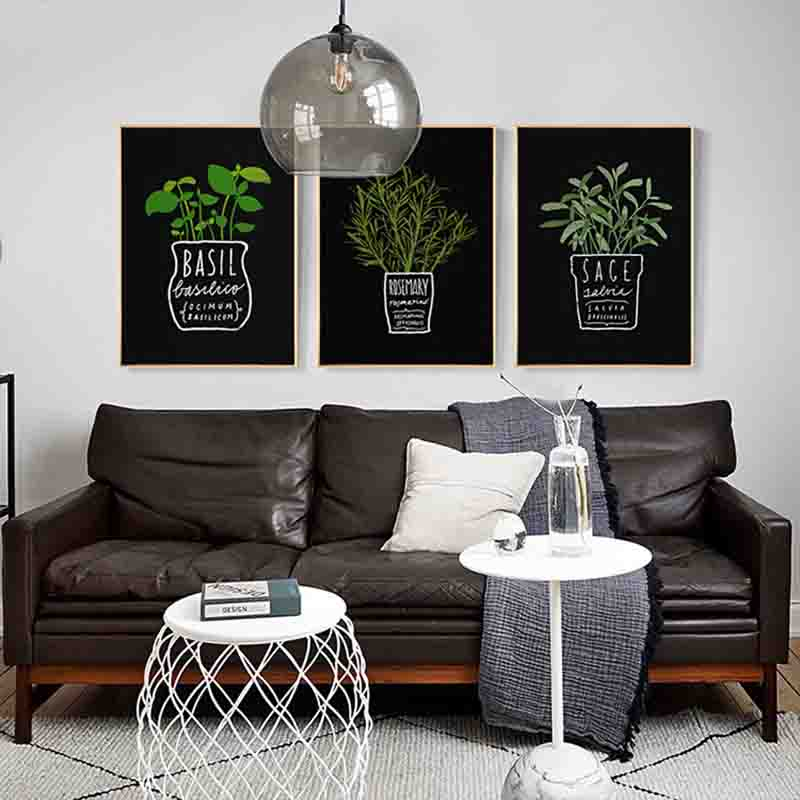Lovely Potted Plant Pastoral Style Interesting Brushwork Charming Abstract Nordic Art Picture Canvas Posters for Home Decoration