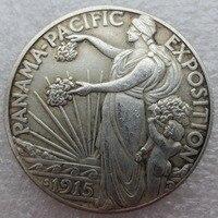 90% Silver New UNC 1915-S Panama Pacific Exposition Commemorative Half Dollar Copy Coins