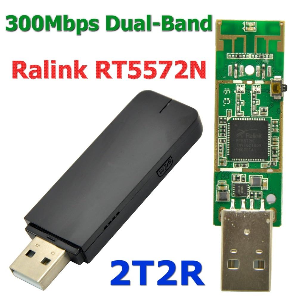 Netzwerk Karten Networking Ralink Rt5572 300 Mbps Dual Band Wifi Usb Adapter Wireless Wi Fi Empfänger Wi-fi Dongle Pcb Wifi Antenne Für Windows 7/8/10/linux Eleganter Auftritt