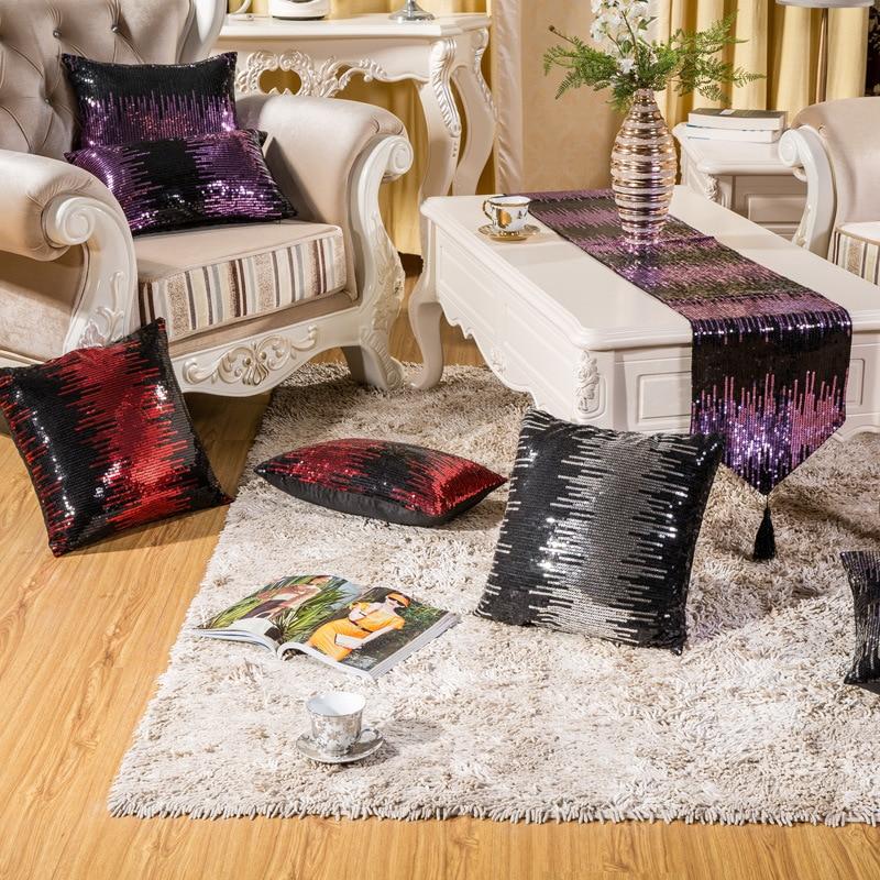 Diamond Luxury Swan Sequins Velvet Pillow  Pillow Cushion Sofa Cushions Car Cushion Free