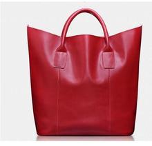 Luxury Handbags Top-Handle Bags for Women 2017 New Ladies Genuine Leather Bag Female Large Tote Bags Vintage Bucket Handbag B071