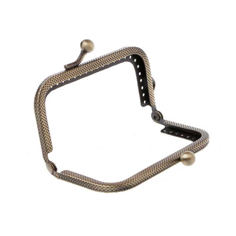 Pocałunek zapięcie rama 1 PC/5 sztuk/10 sztuk 8.5 cm w sprzedaży hurtowej metalowa rama pocałunek zapięcie Arch dla portmonetka torba akcesoria DIY brąz