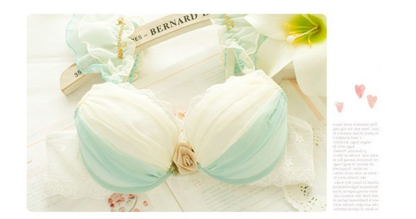 Dream Angels 14 New Women Push Up Bra Sets Breast Flower Lace Bra Women Underwear Sexy Lingerie Brand Bra & Brief Sets 17