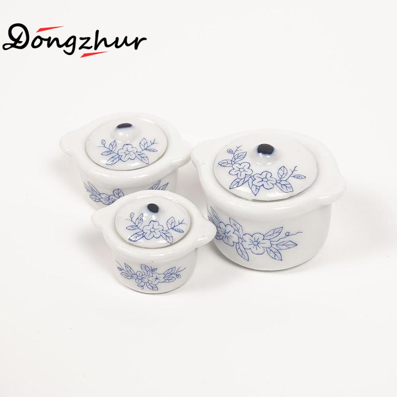1:12 Scale Large Delf Style Bowl Blue and White