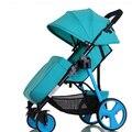 Luz carrinho de criança dobrável portátil pode sentar pode mentir um carrinho de bebê recém-nascido strollerschildren's no inverno