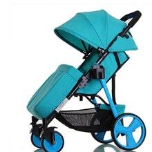 Stroller light folding portable can sit can lie a newborn baby strollerschildren's cart in the winter