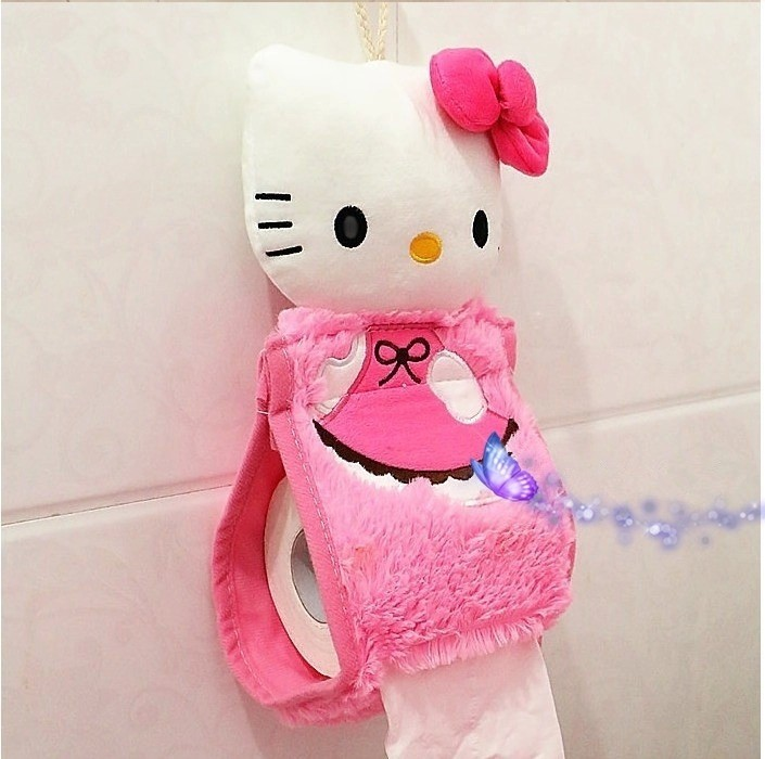 Hello Kitty Bathroom Set Toilet Cover Mat Holder Closestool Lid Products Accessories Sets 4pcs S In