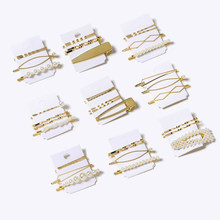 3Pcs/Set Pearl Hairwear Geometry Hairband Comb Bobby Pin Barrette Hairpin Headdress Accessories Beauty Sweet Styling Tools(China)
