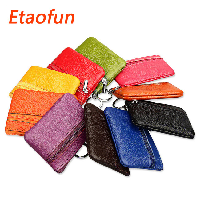 Etaofun New Brand Genuine Leather keys wallets women s car key holder  colorful card holders small coins bags housekeeper purses 41fc10b2d4
