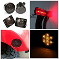 Front Smoked LED Turn Light for Jeep Wrangler Fender Parking Light for Jeep Wrangler 3rd Brake Light for Jeep Wrangler 07-16