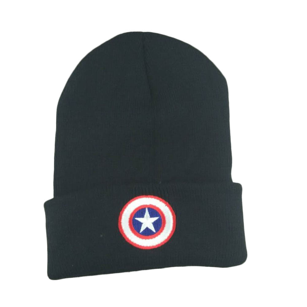Newborn  Captain America Cotton Blends Caps Children Cold Knitted Cap Baby Boys Girls Hat