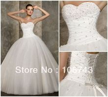 free shipping 2013 new design hot sale ball gown Stock Bridal wedding bolero organza casual dresses 2014 plus size