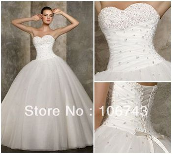 free shipping 2018 new design hot sale sweetheart ball gowns Stock Bridal gown bolero organza casual mother of the bride dresses