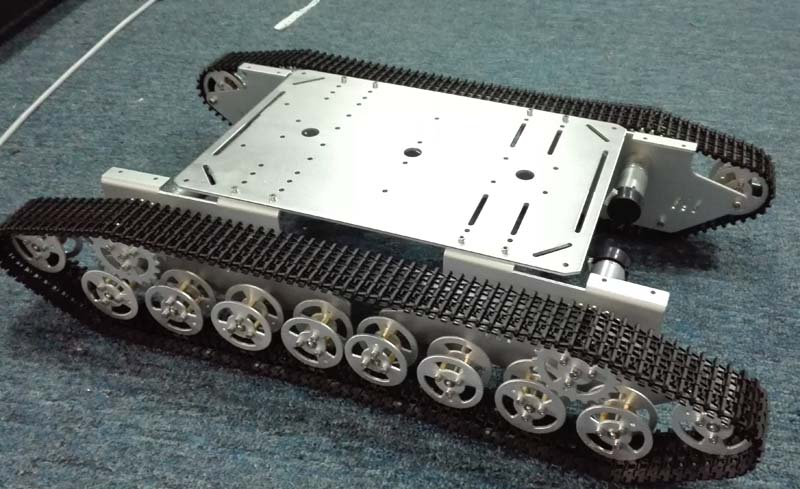 Doit T800 Silver Alloy DIY Tank Chassis With 4 Motors Robbot Chassis Big Size hello maker 158 alloy diy tank driving wheel with coupling for tank robbot chassis
